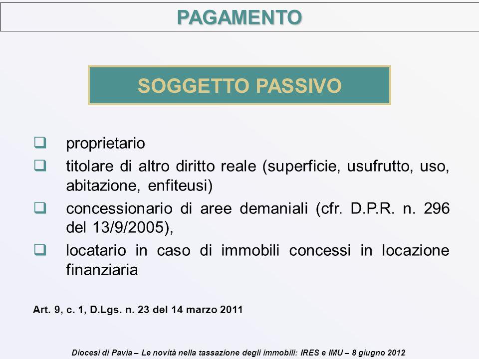 PAGAMENTO SOGGETTO PASSIVO