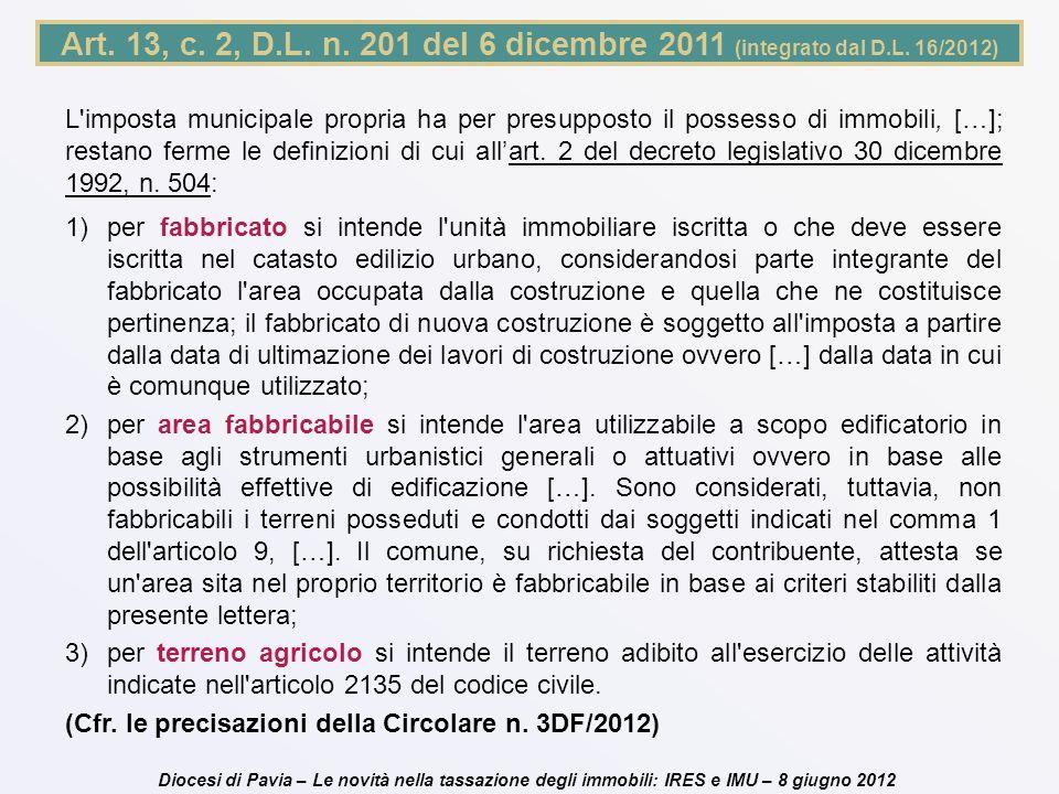 Art. 13, c. 2, D. L. n. 201 del 6 dicembre 2011 (integrato dal D. L