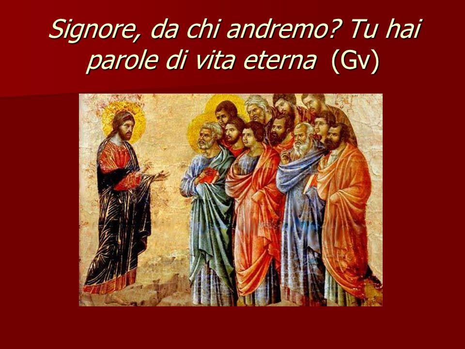 Signore, da chi andremo Tu hai parole di vita eterna (Gv)