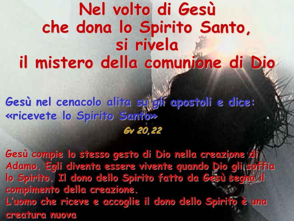 che dona lo Spirito Santo, il mistero della comunione di Dio