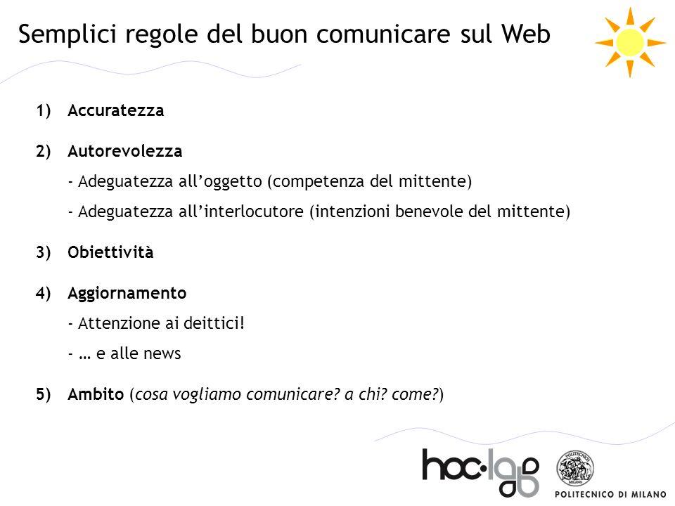 Semplici regole del buon comunicare sul Web