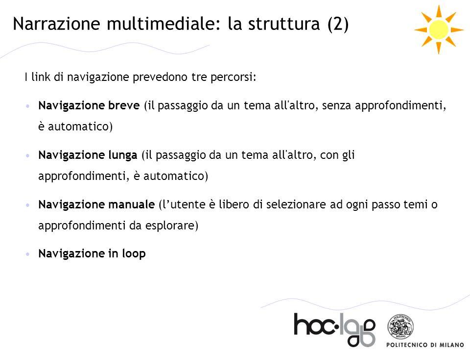 Narrazione multimediale: la struttura (2)
