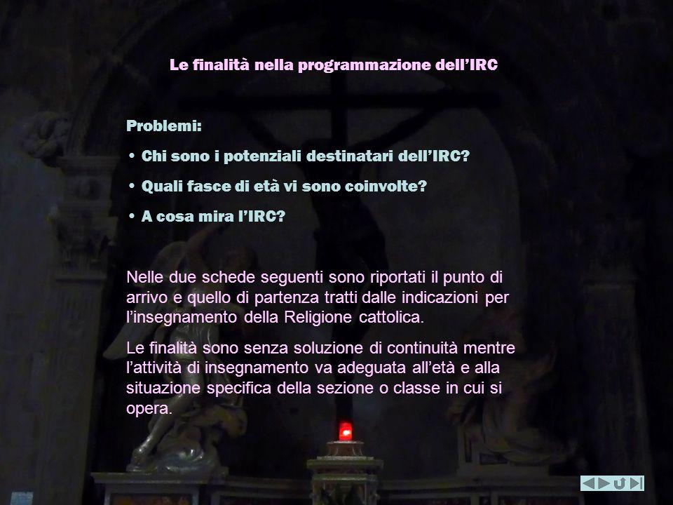 Le finalità nella programmazione dell'IRC