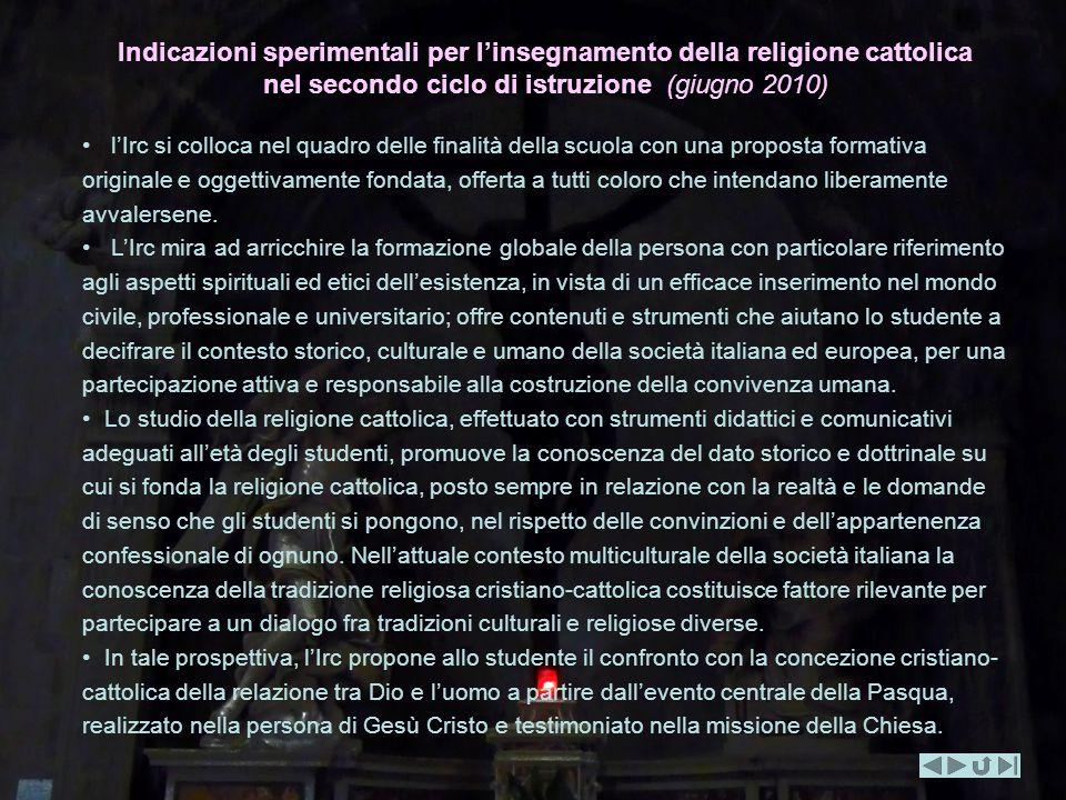 Indicazioni sperimentali per l'insegnamento della religione cattolica