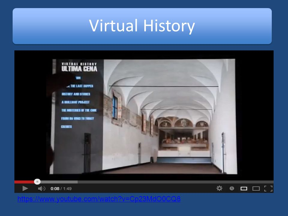 Virtual History https://www.youtube.com/watch v=Cp23MdO0CQ8