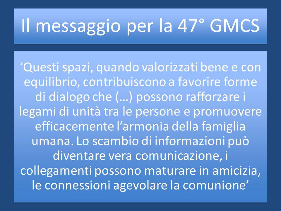 Il messaggio per la 47° GMCS