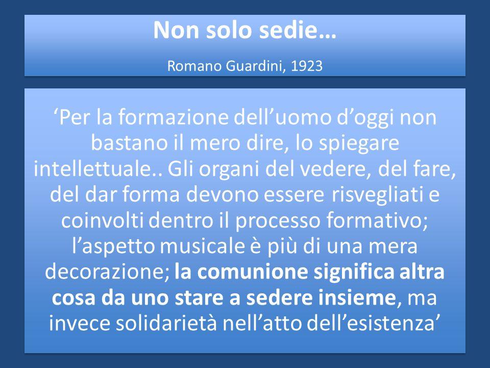 Non solo sedie… Romano Guardini, 1923.