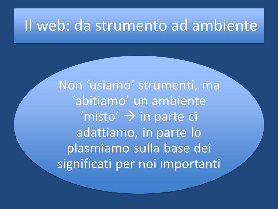 Il web: da strumento ad ambiente