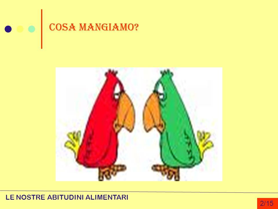 COSA MANGIAMO LE NOSTRE ABITUDINI ALIMENTARI 2/15