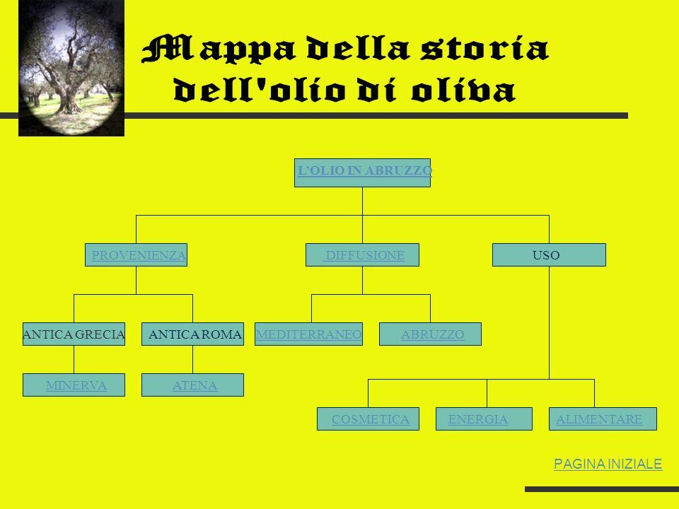 Mappa della storia dell olio di oliva