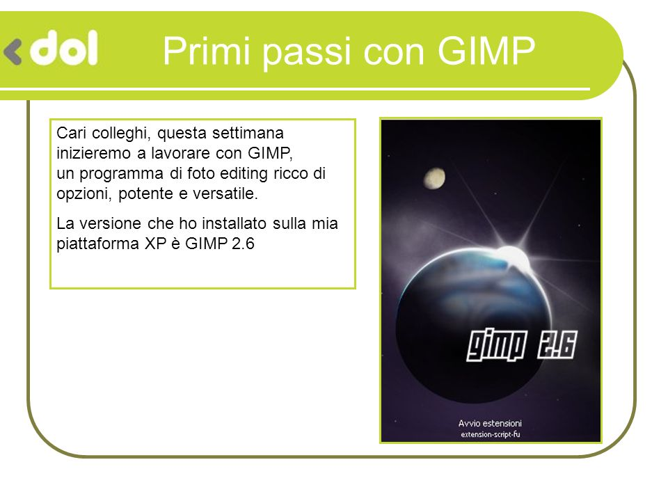 Primi passi con GIMP