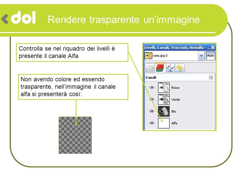 Rendere trasparente un'immagine