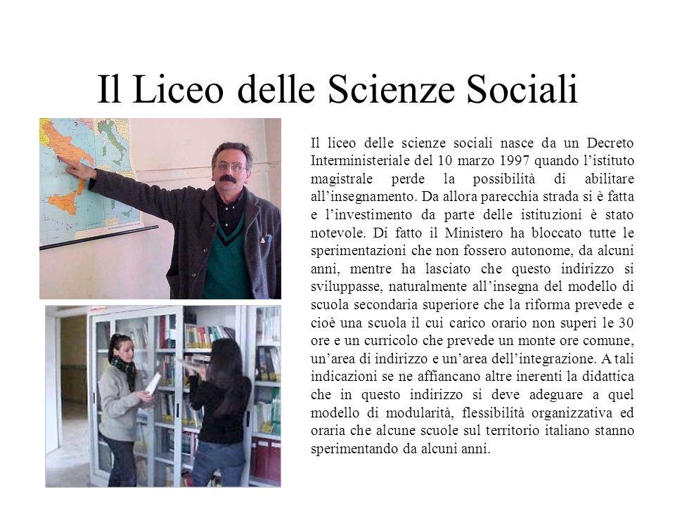 Il Liceo delle Scienze Sociali