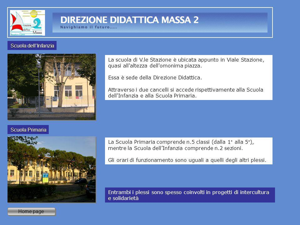 Scuola dell'InfanziaLa scuola di V.le Stazione è ubicata appunto in Viale Stazione, quasi all altezza dell omonima piazza.