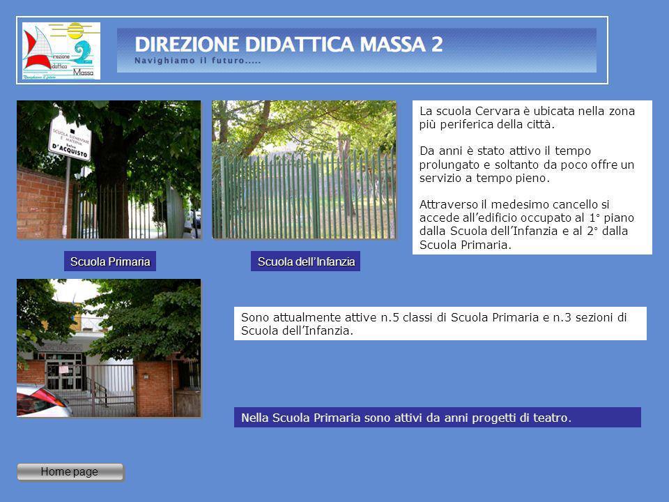 La scuola Cervara è ubicata nella zona più periferica della città.