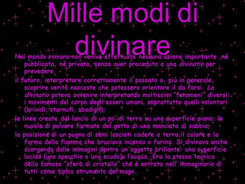 Mille modi di divinare