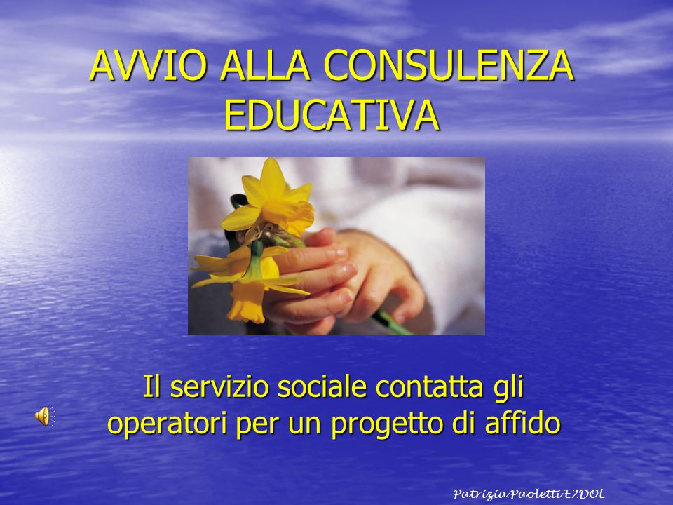 AVVIO ALLA CONSULENZA EDUCATIVA