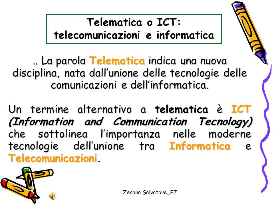 Telematica o ICT: telecomunicazioni e informatica