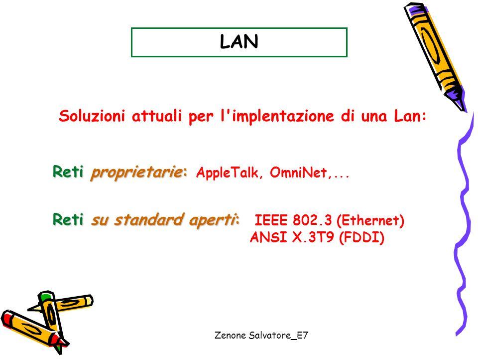 Soluzioni attuali per l implentazione di una Lan: