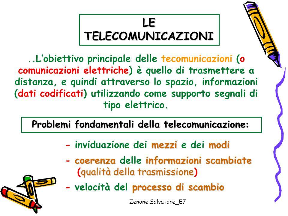 LE TELECOMUNICAZIONI ..L'obiettivo principale delle tecomunicazioni (o