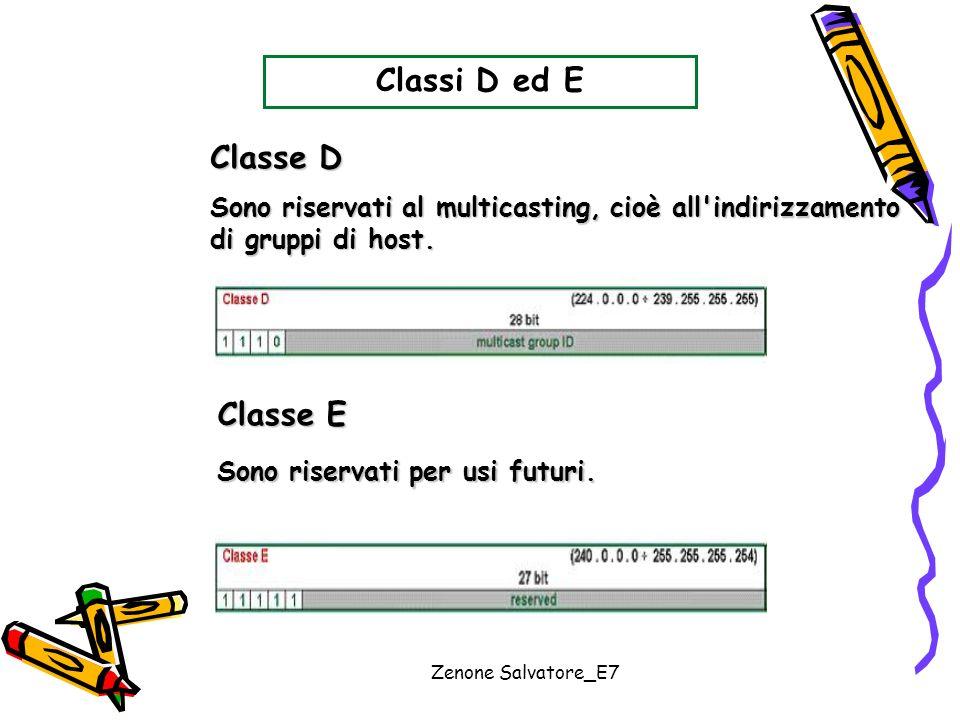 Classi D ed E Classe D Classe E
