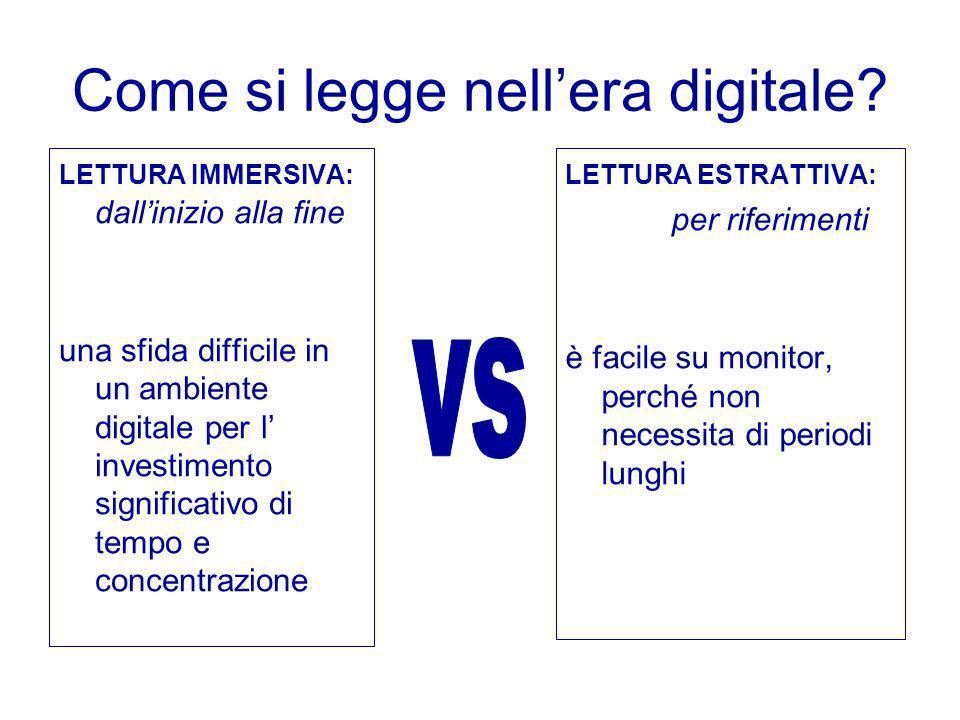 Come si legge nell'era digitale