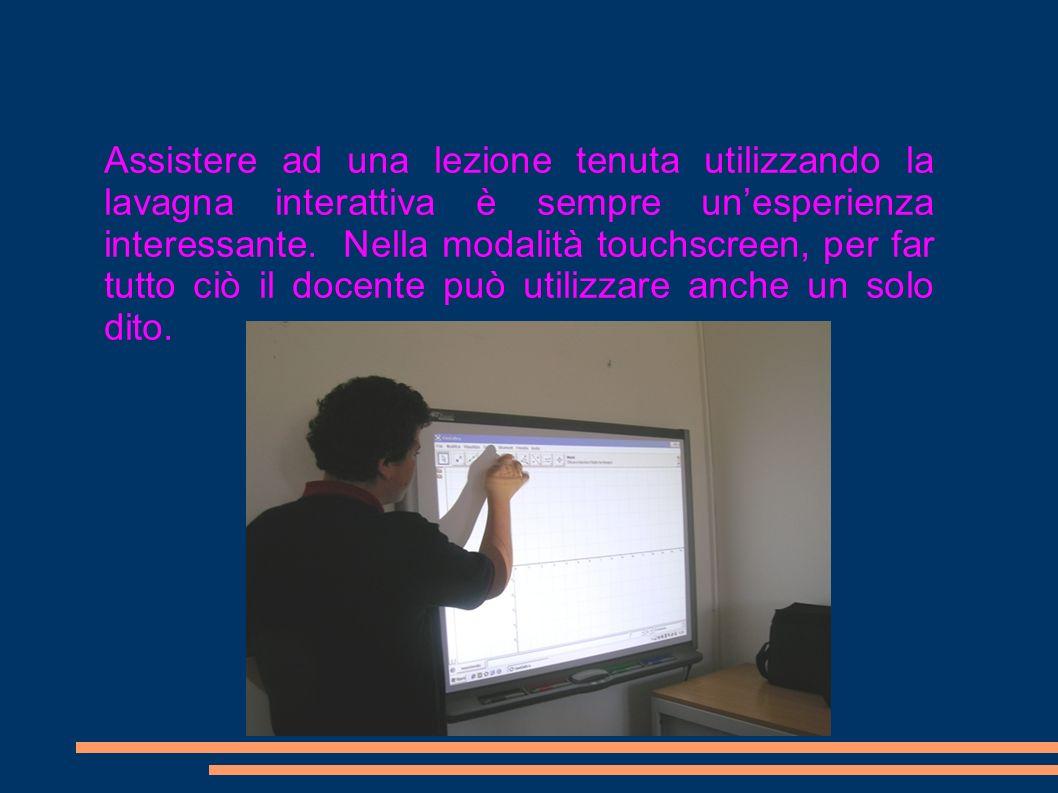 Assistere ad una lezione tenuta utilizzando la lavagna interattiva è sempre un'esperienza interessante.