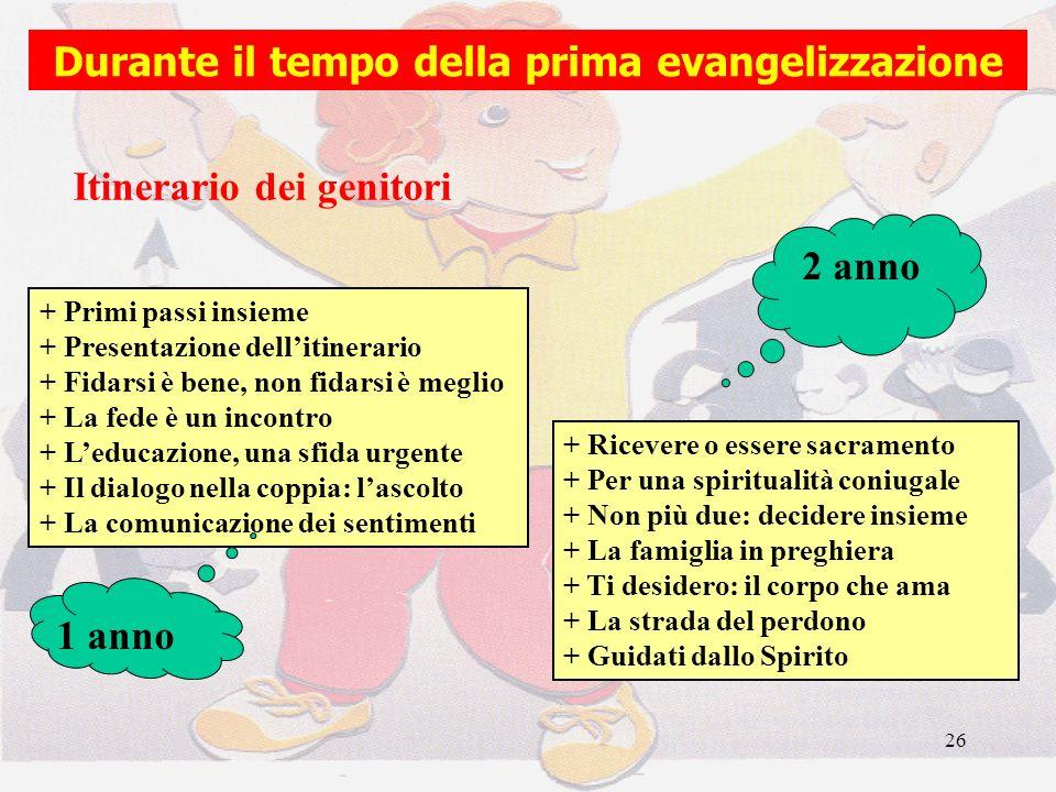 Durante il tempo della prima evangelizzazione