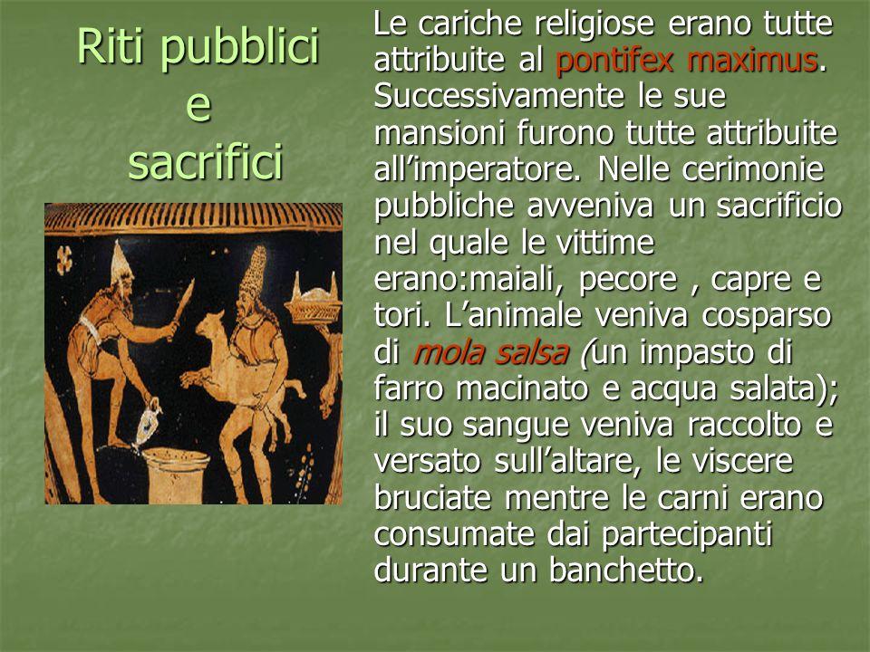 Riti pubblici e sacrifici
