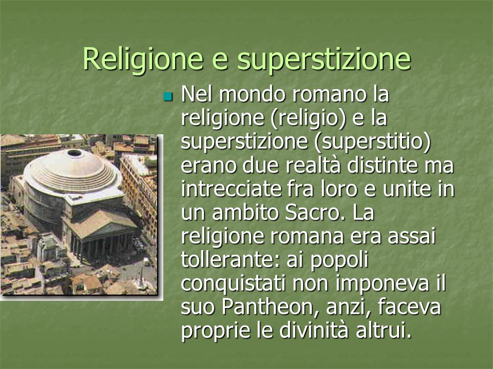 Religione e superstizione