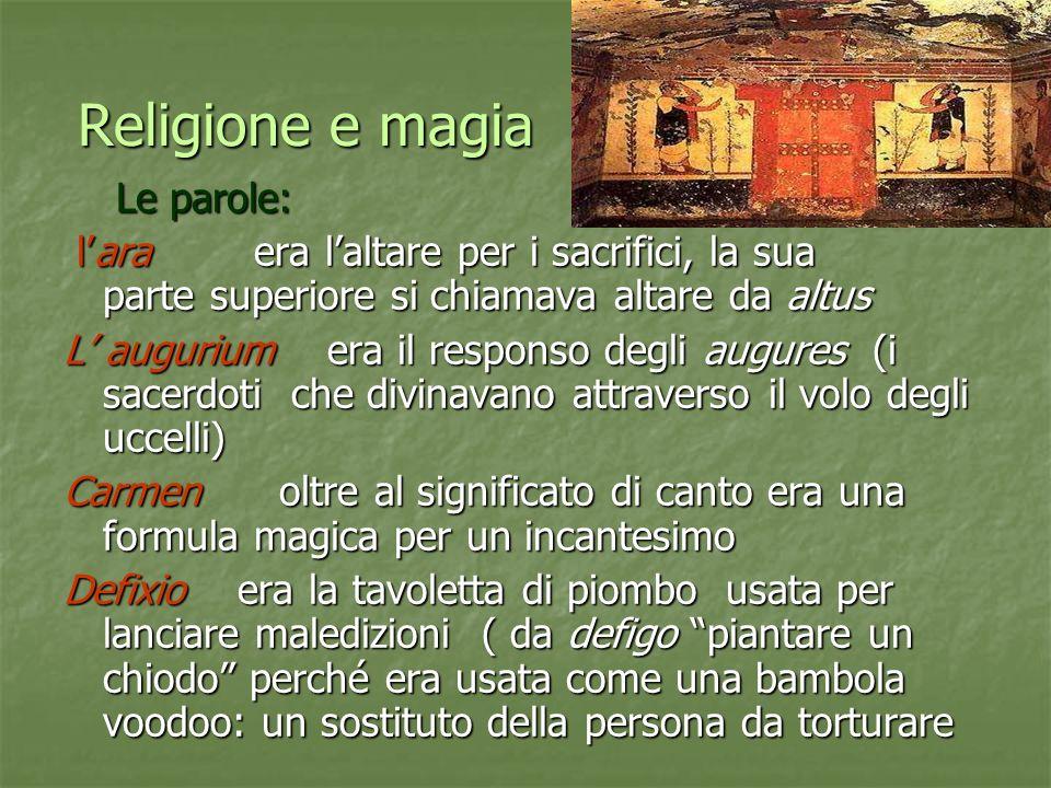 Religione e magia Le parole: