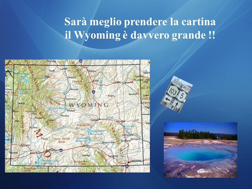Sarà meglio prendere la cartina il Wyoming è davvero grande !!