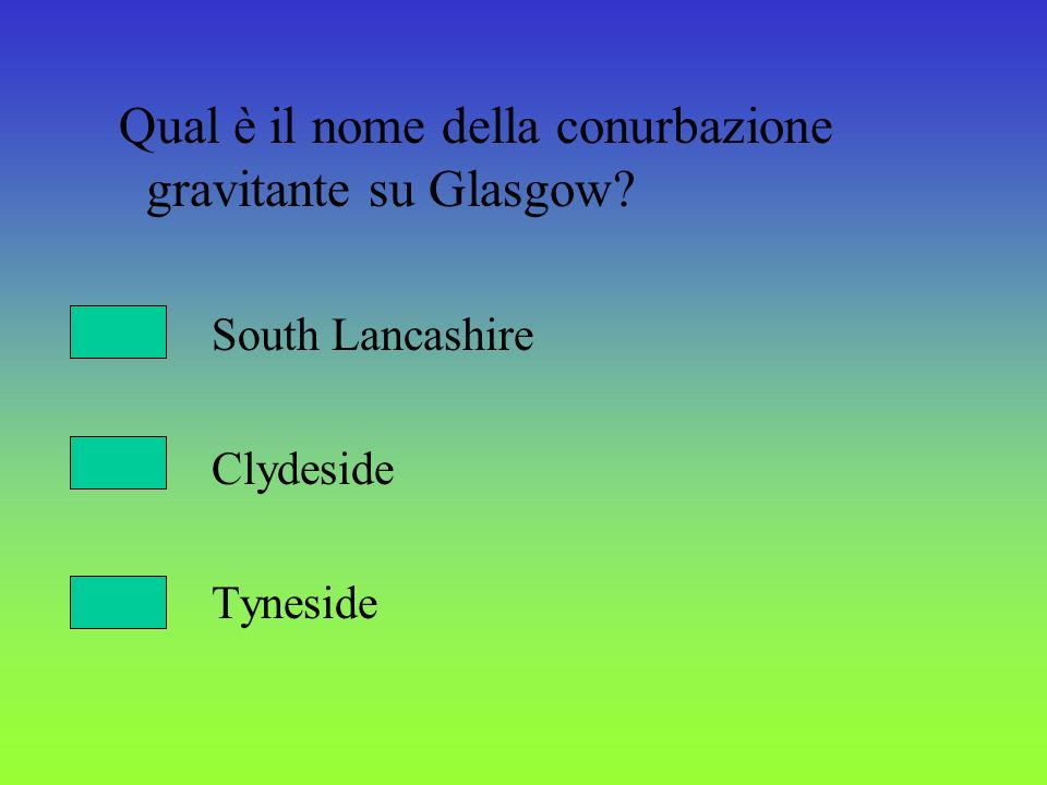 Qual è il nome della conurbazione gravitante su Glasgow