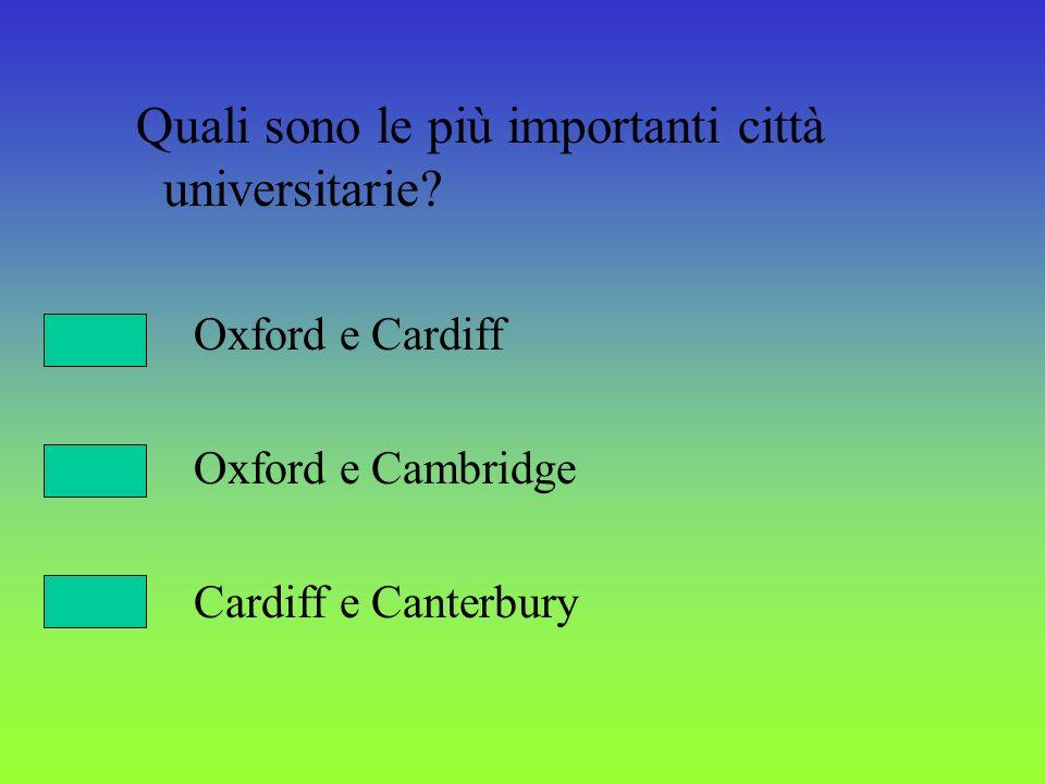 Quali sono le più importanti città universitarie