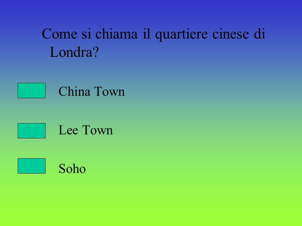 Come si chiama il quartiere cinese di Londra