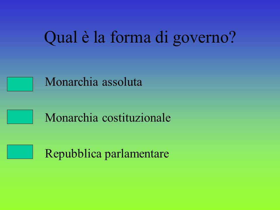 Qual è la forma di governo