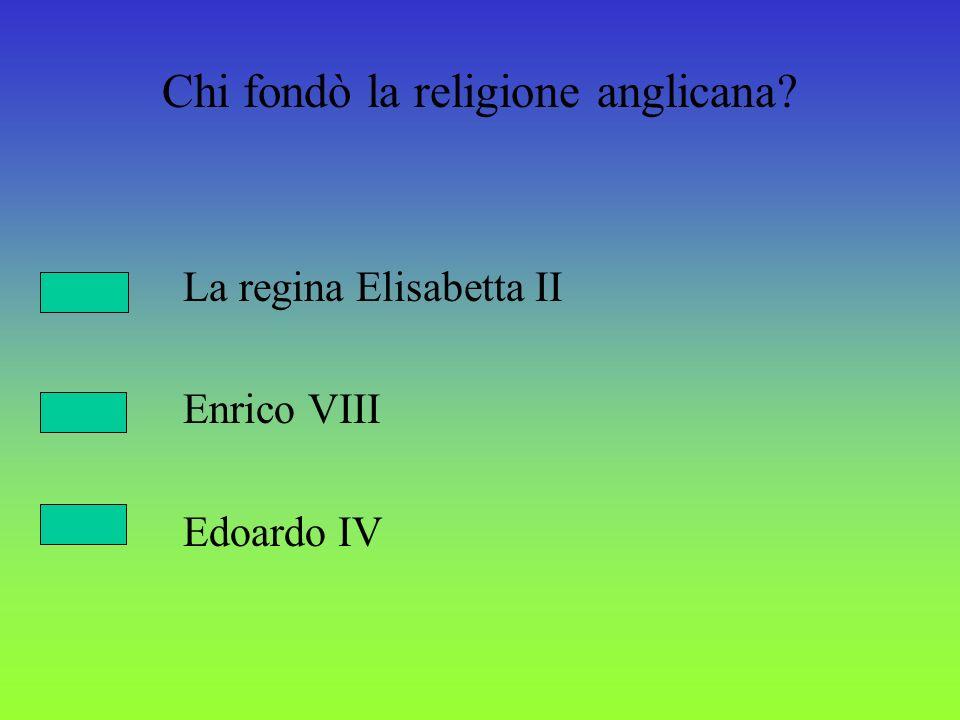 Chi fondò la religione anglicana