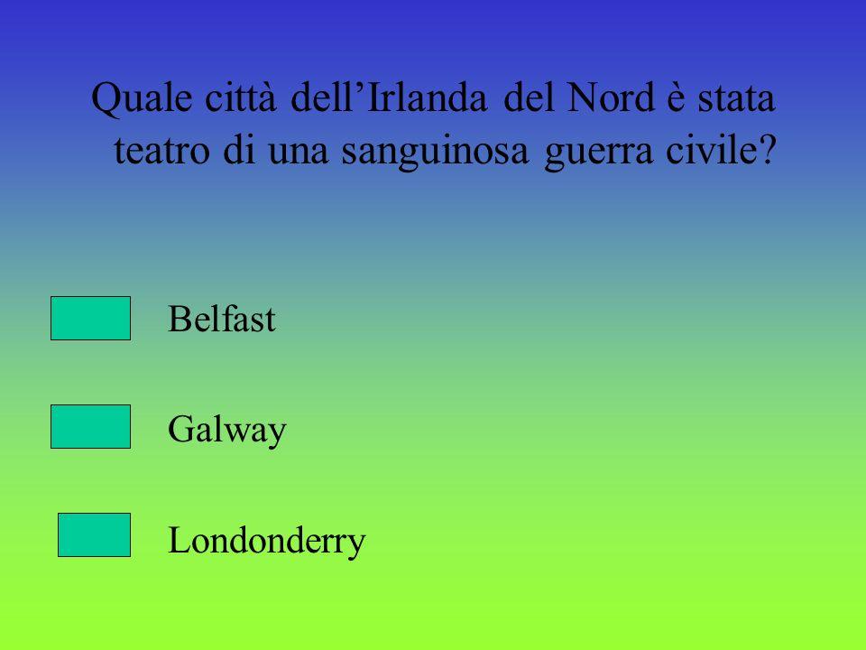 Quale città dell'Irlanda del Nord è stata teatro di una sanguinosa guerra civile