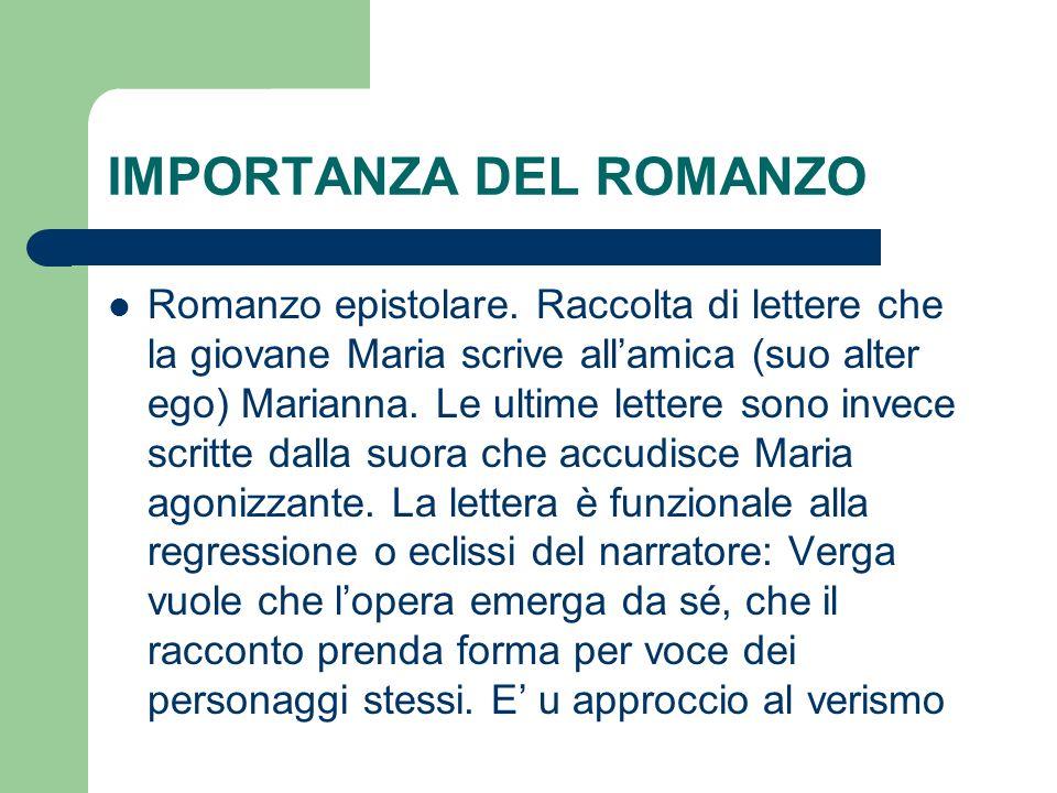 IMPORTANZA DEL ROMANZO