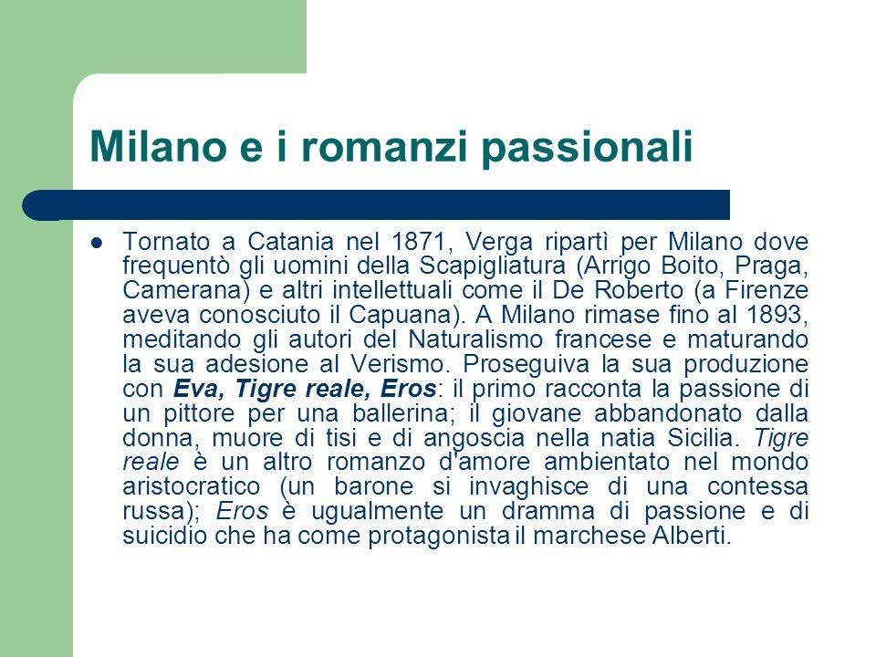 Milano e i romanzi passionali