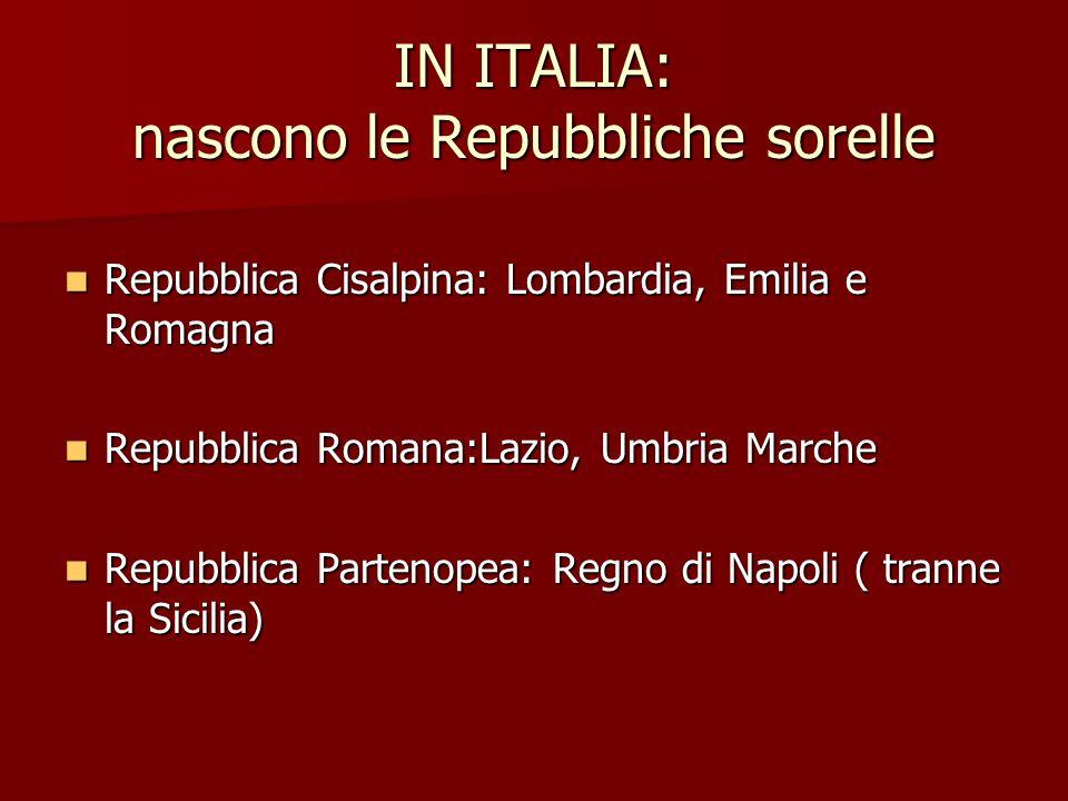 IN ITALIA: nascono le Repubbliche sorelle