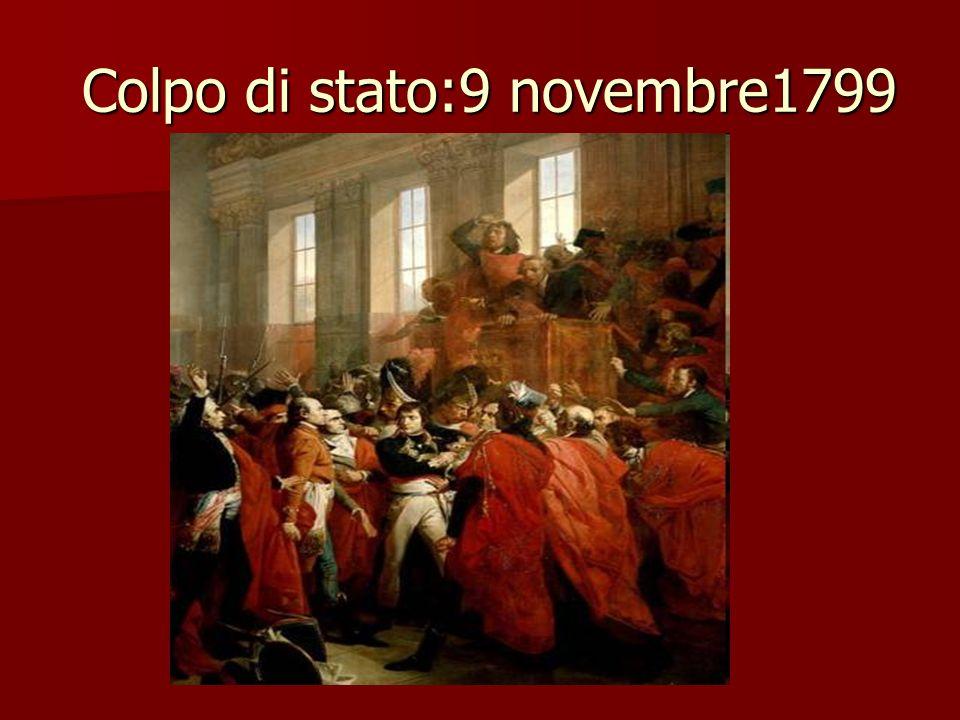 Colpo di stato:9 novembre1799