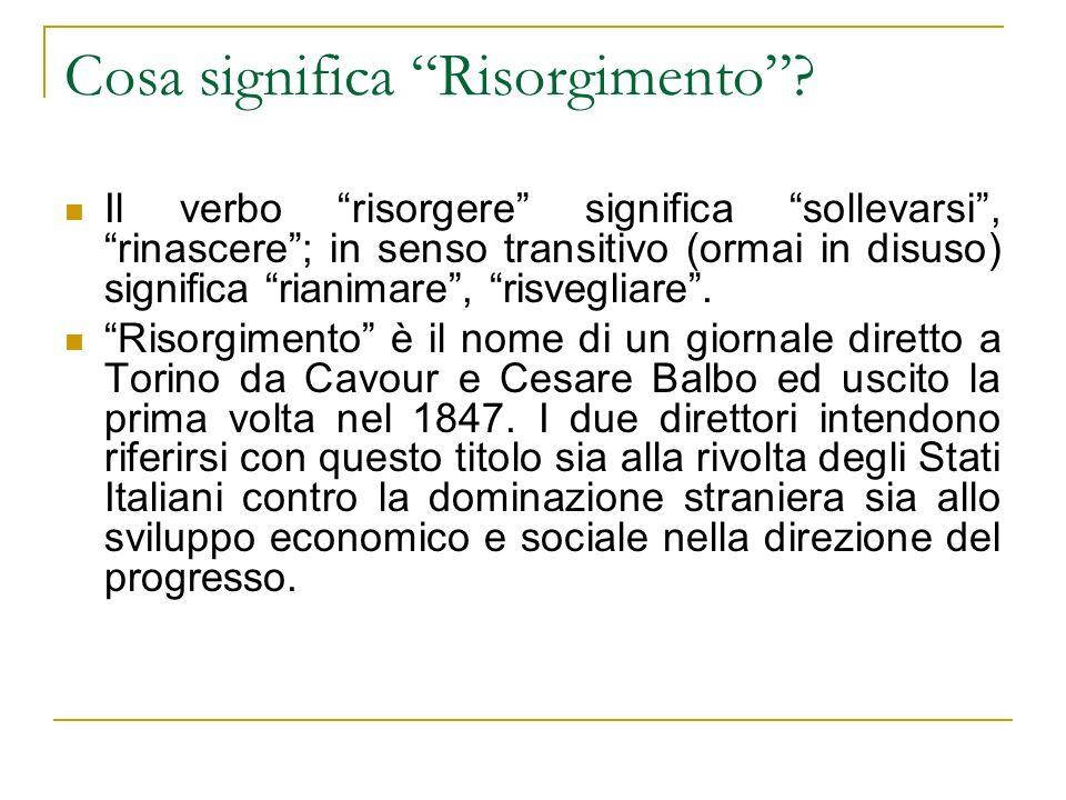 Cosa significa Risorgimento