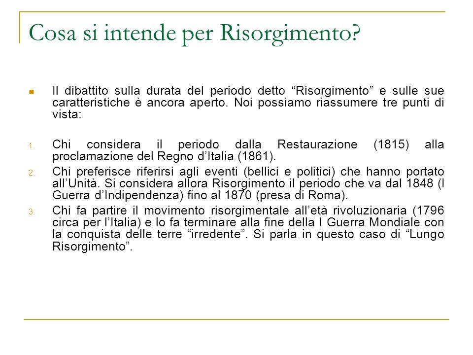 Cosa si intende per Risorgimento