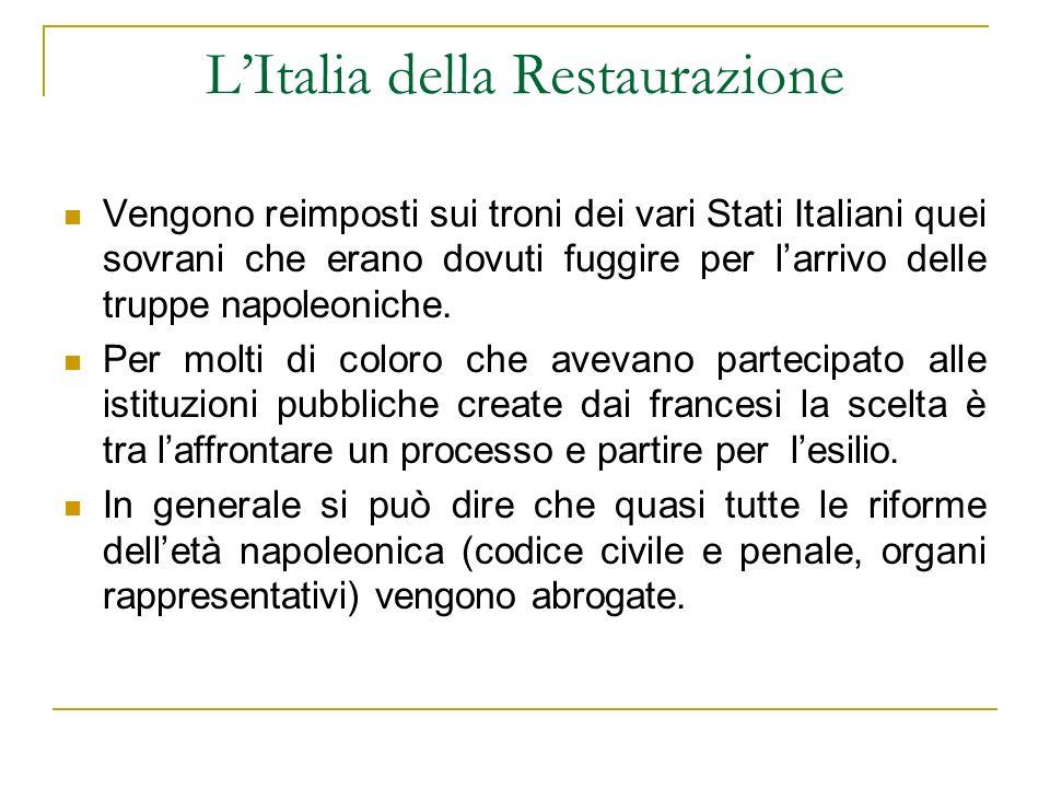 L'Italia della Restaurazione
