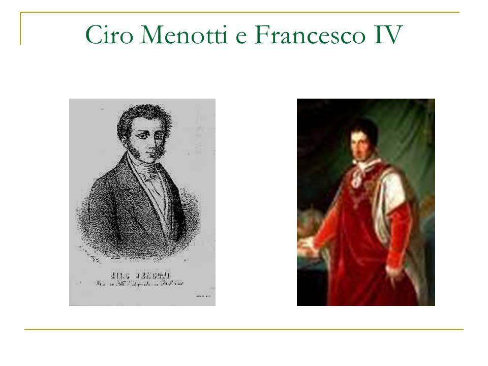 Ciro Menotti e Francesco IV