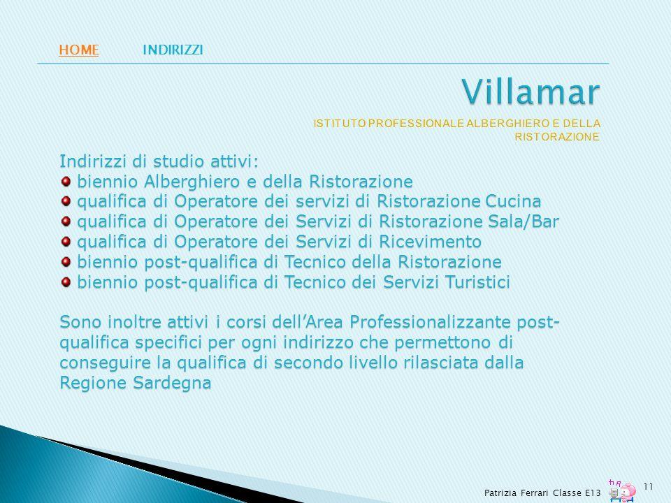 Villamar ISTITUTO PROFESSIONALE ALBERGHIERO E DELLA RISTORAZIONE