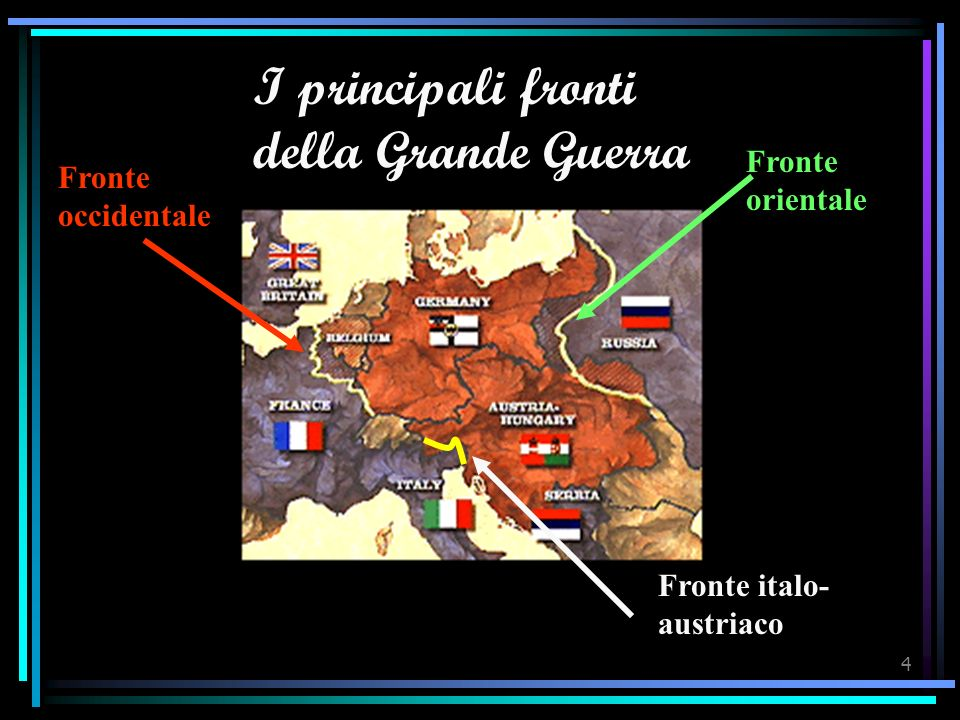 I principali fronti della Grande Guerra