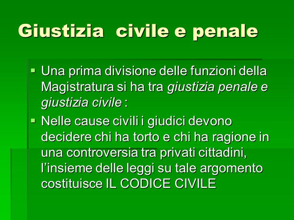 Giustizia civile e penale