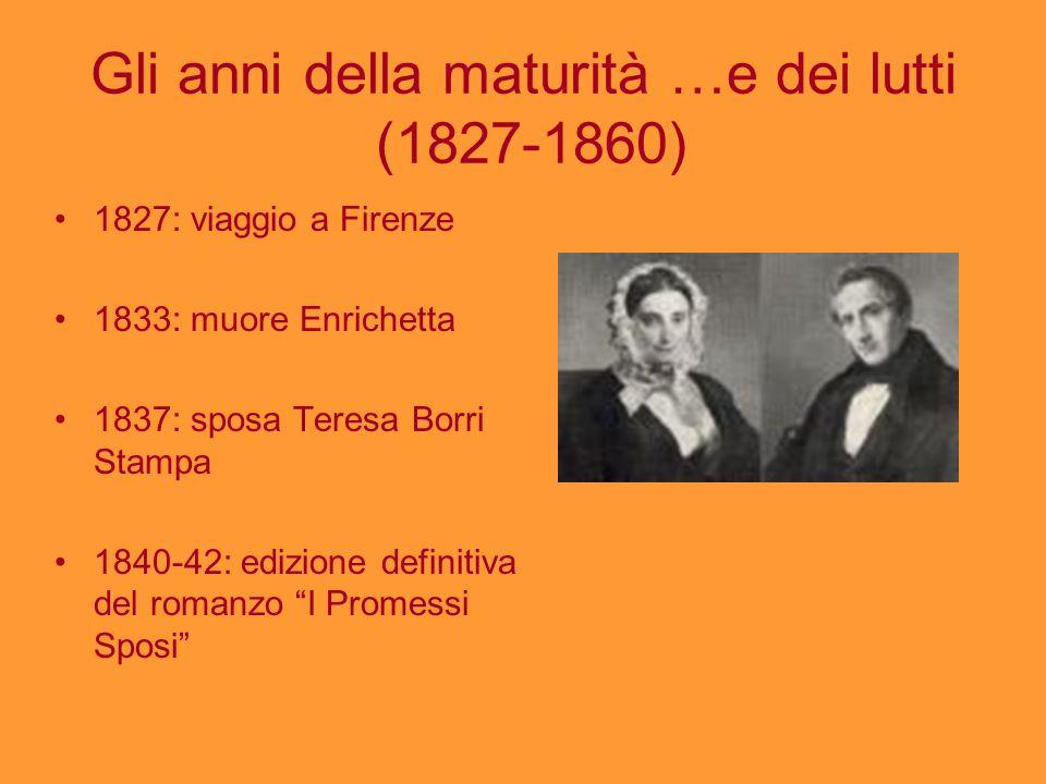 Gli anni della maturità …e dei lutti (1827-1860)